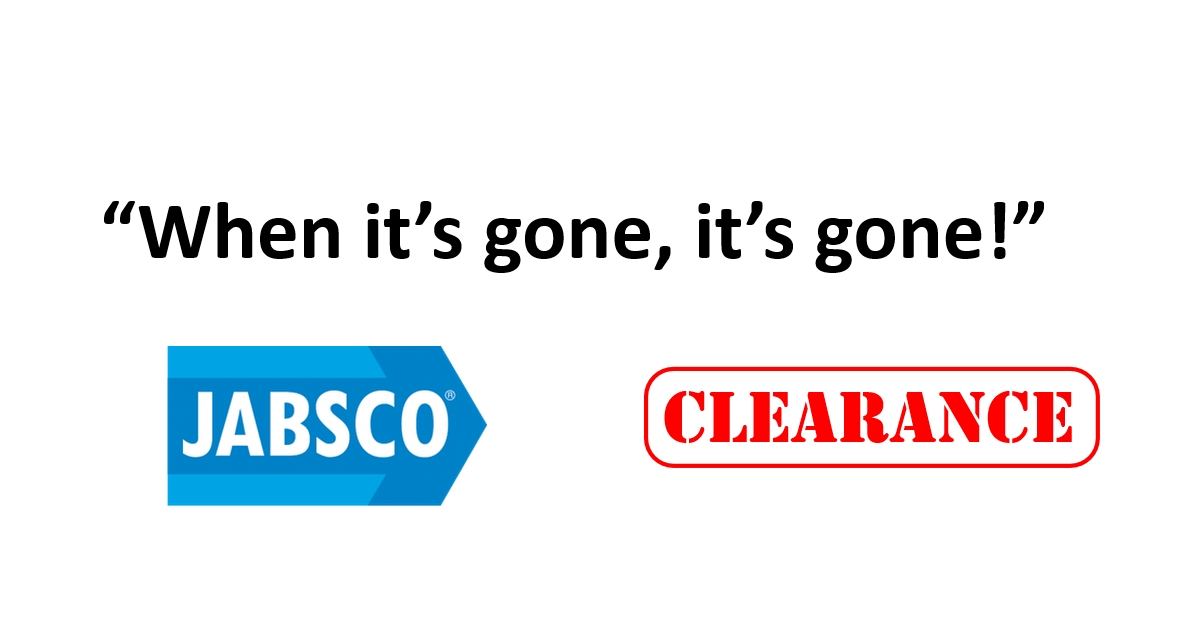 Jabsco CLEARANCE While Stocks Last